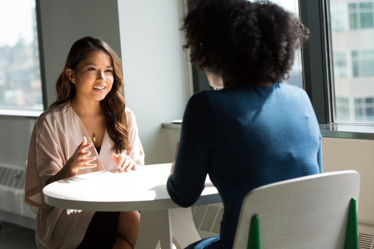 two women at an interview